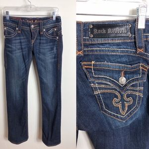 Gorgeous rock revival patti boot cut jeans